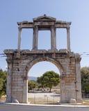 Hadrians门,雅典希腊 库存照片