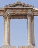 Hadrians bramy szczegół, Ateny Grecja Zdjęcie Royalty Free