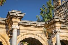 Hadrians Gate in Antalya, Turkey. Ancient Hadrians Gate in Antalya City, Turkey Royalty Free Stock Image