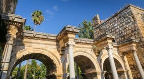 Hadrians Gate in Antalya, Turkey. Ancient Hadrians Gate in Antalya City, Turkey Stock Image