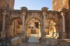 Hadrians Gate in Antalya, Turkey. Royalty Free Stock Photo