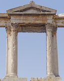 Hadrians gate detail, Athens Greece Royalty Free Stock Photo
