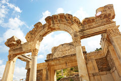 Hadrians Temple. Hadians Temple in the old ruins of the city of Ephesus in modern day Turkey Royalty Free Stock Photos