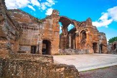 Hadrians Villa in Tivoli - dichtbij Rome - archeologisch ori?ntatiepunt in Itali? royalty-vrije stock foto