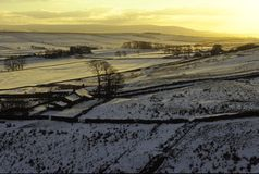 Hadrians Wall. Northumberland in the winter Royalty Free Stock Images