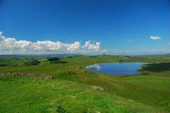 Hadrian wall countryside Royalty Free Stock Images