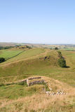 Hadrians Wall. Stock Photo