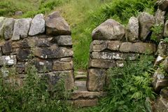 Hadrians Wall in Scotland Stock Photography