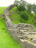 Hadrians Wall. A section of Hadrian's Wall on the National Trail Stock Photos