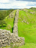 Hadrians Wall. A section of Hadrian's Wall on the National Trail Royalty Free Stock Photo