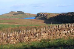 Hadrians Wall at Steel Rigg Stock Image