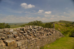 Hadrians Wall. A view of Hadrian's Wall in England Stock Photography