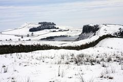 Hadrians Wall in winter Royalty Free Stock Image
