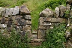 Hadrians Wand in Schottland Stockfotografie