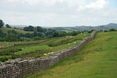 Hadriansmuur in Birdoswald royalty-vrije stock afbeeldingen