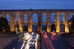 Hadrianus Aqueduct in Istanbul Stock Image