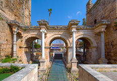 The Hadrianus gate Stock Images