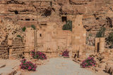 The Hadrien Gate roman avenue in nabatean city of  petra jordan Stock Images