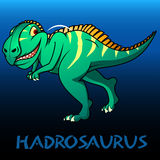 Hadrosaurus cute character dinosaurs Stock Photo