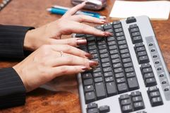 Hads with manicure Royalty Free Stock Images