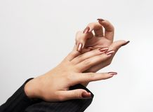 Hads met manicure Royalty-vrije Stock Foto