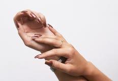 Hads met manicure Royalty-vrije Stock Fotografie