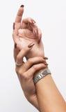 Hads met manicure Stock Fotografie