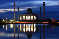 Hadyai Mosque in nightshot Stock Photo