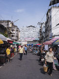 HADYAI SONKHLA, THAILAND-JULY 20: Gata av den Kimyong gatafläcken Royaltyfri Bild