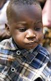 Hadza部落的婴孩特写镜头的画象 图库摄影