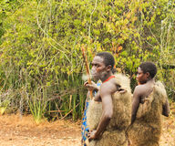 Hadzabe Tribesman Smoking Stock Images