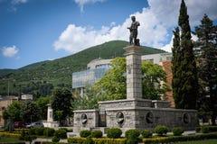 Hadzhi Dimitar的纪念碑在斯利文,保加利亚 免版税库存照片