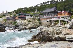 Haedong Yonggungsa寺庙 图库摄影