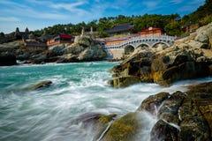Haedong Yonggungsa świątynia Busan, Południowy Korea zdjęcia stock