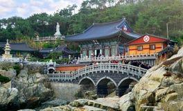 Haedong Yonggungsa świątynia fotografia stock