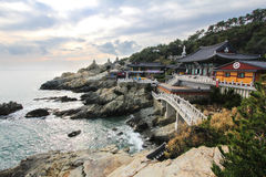 Haedong Yonggungsa seaside temple in Busan, Korea Stock Photos