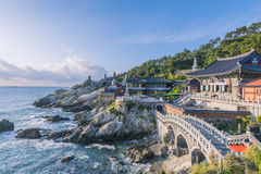 Haedong Yonggungsa Temple in Busan, South Korea royalty free stock image