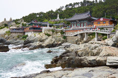 Haedong Yonggungsa Temple. On the coast in Busan Stock Photography