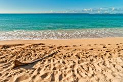 Haena海滩在考艾岛海岛,夏威夷 图库摄影