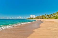 Haena strand i den Kauai ön, Hawaii Fotografering för Bildbyråer