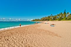 Haena-Strand in Kauai-Insel, Hawaii Stockbild