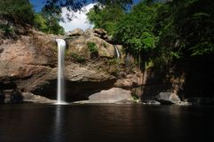 Haeo Suwat waterfall Royalty Free Stock Photography