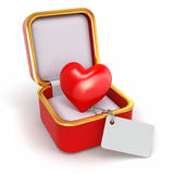 Haert in gift box. Concept of love. Royalty Free Stock Photo