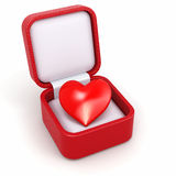 Haert in gift box. Concept of love. Stock Photo