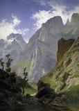 Haes, canale de- di Carlos Mancorbo in Picos de Europa, 1876 fotografia stock