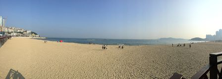 Haeundae海滩在釜山 库存照片