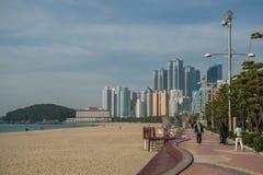 Haeundae海滩 图库摄影