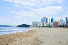 Haeundae beach Royalty Free Stock Images