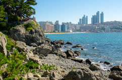 HaeUnDae Beach at Busan in Korea Royalty Free Stock Image
