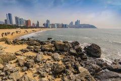 Haeundae beach, Busan, Korea Stock Images